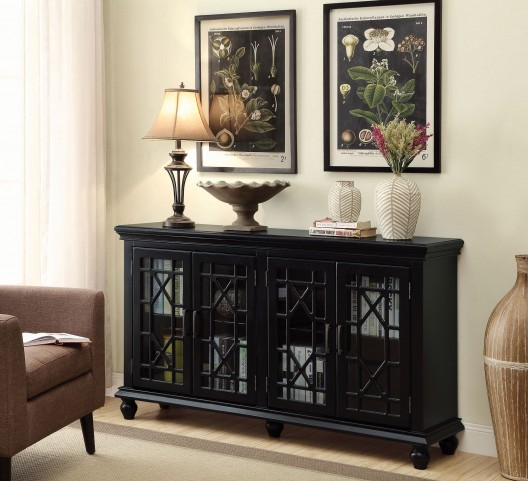 Antique Black Accent Cabinet