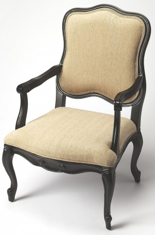 Clea Black Licorice Accent Chair