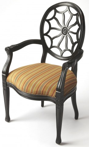 Allison Black Licorice Accent Chair