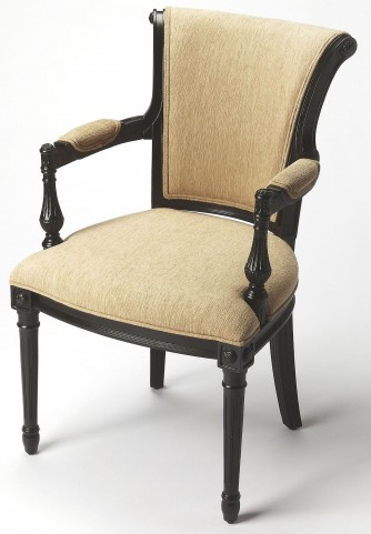 Carina Black Licorice Accent Chair