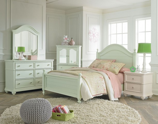 Camellia Mint Green Youth Poster Bedroom Set
