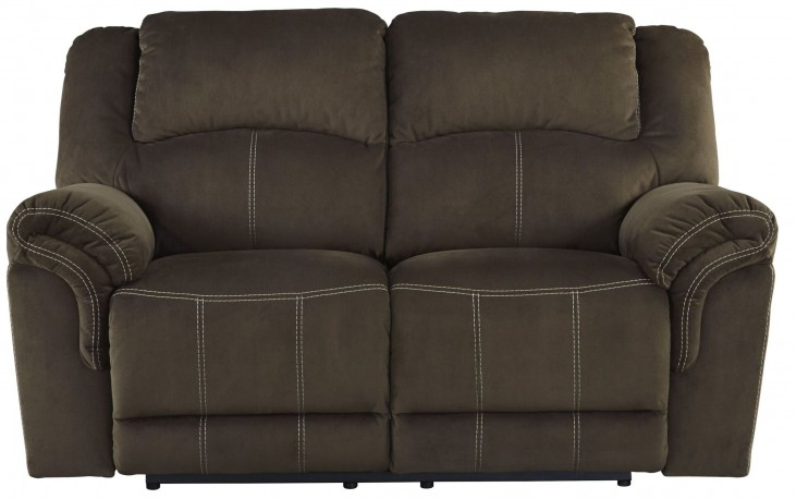 Quinnlyn Coffee Power Reclining Loveseat