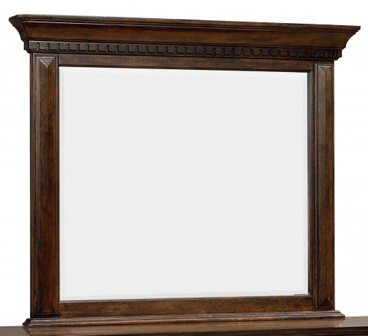 Charleston Burnished Tobacco Mirror