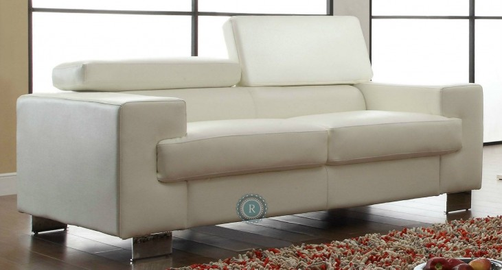 Vernon White Loveseat