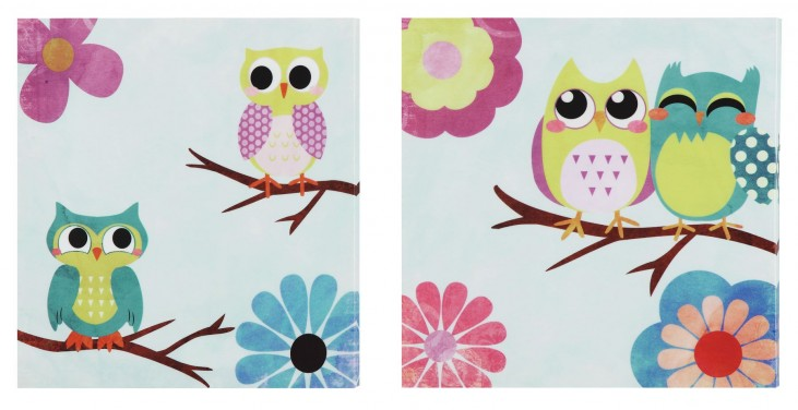 Owl Buddies 2 Piece Wall Art