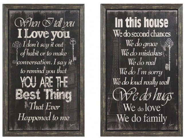 Black Cozy Sentiment Wall Art