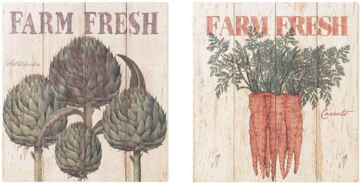 Farm Fresh Wall Art Set of 2