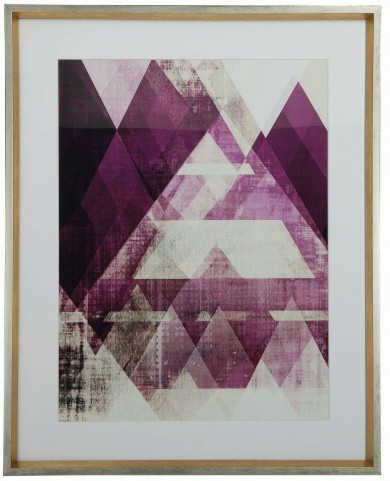 Purple and White Frame Wall Art