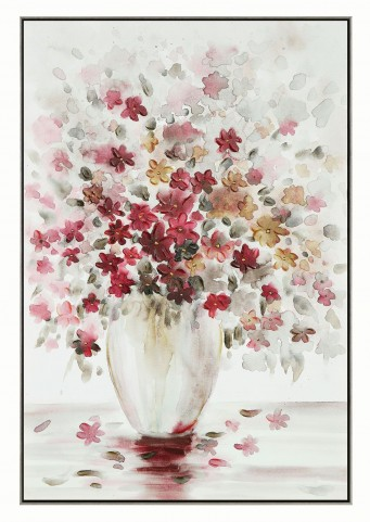 White and Red Frame Wall Art
