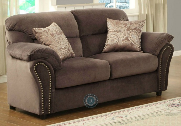 Valentina Chocolate Loveseat