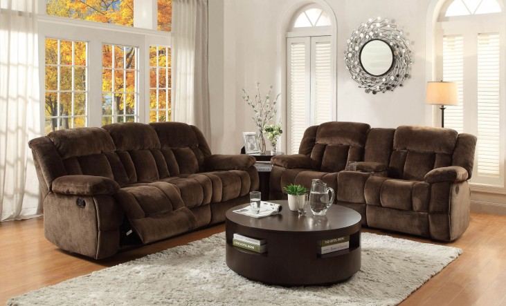 Laurelton Chocolate Double Reclining Living Room Set