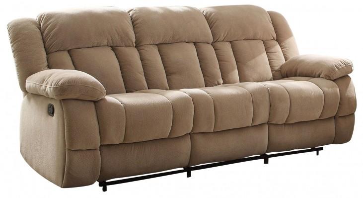 Laurelton Taupe Double Reclining Sofa