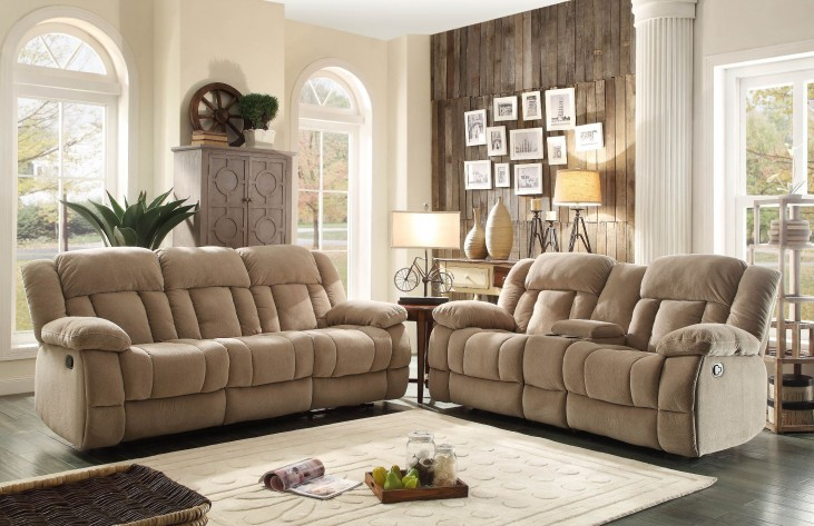 Laurelton Taupe Double Reclining Living Room Set