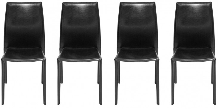 Euro Home Tamara Black Chair Set of 4