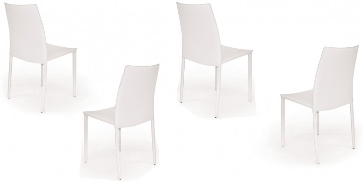 Euro Home Tamara White Chair Set of 4