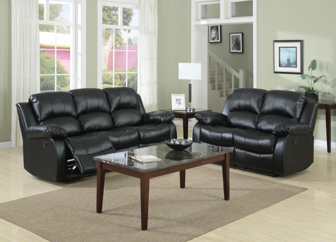 Cranley Black Power Double Reclining Living Room Set