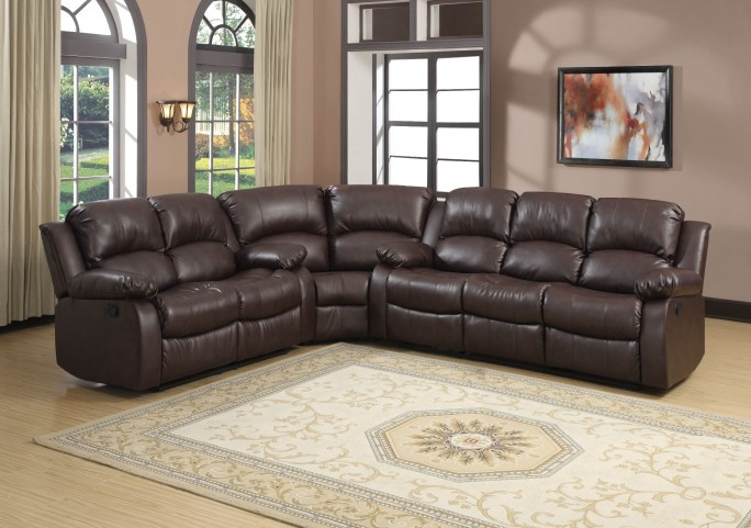 Cranley Brown Power Double Reclining Sectional