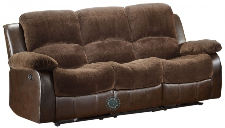 Cranley Dark Brown Power Double Reclining Sofa