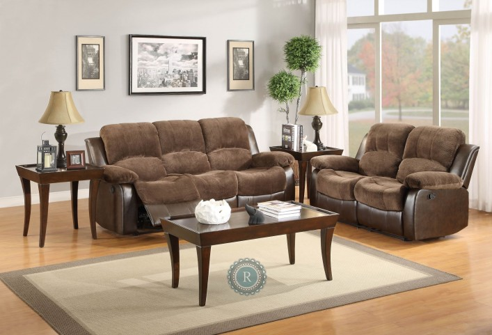 Cranley Dark Brown Reclining Living Room Set