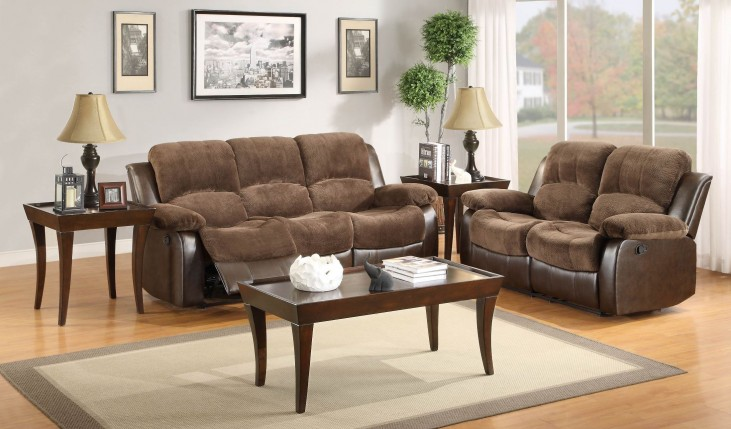 Cranley Dark Brown Power Double Reclining Living Room Set