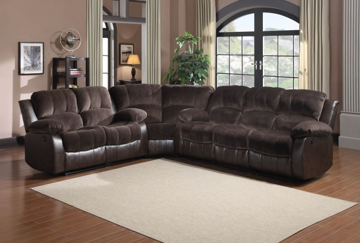 Cranley Dark Brown Power Double Reclining Sectional