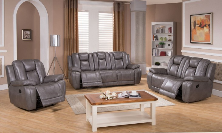 Austin Smoke Grey Reclining Living Room Set