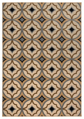 Brown and Black Small Rug