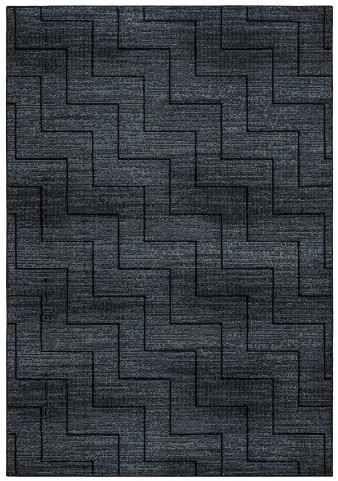 Gray and Black Millenium Plus Large Rug