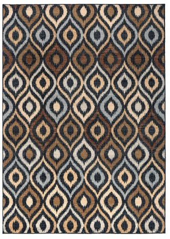 Brown and Blue Millenium Plus Small Rug