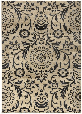 970177L Black and Golden Millenium Plus Large Rug