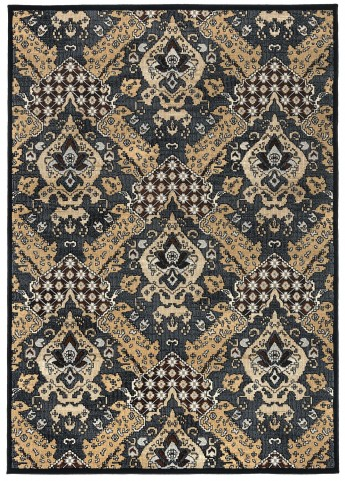 970178L Black and Golden Millenium Plus Large Rug