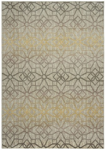 Gray and Golden Barcelona Large Rug