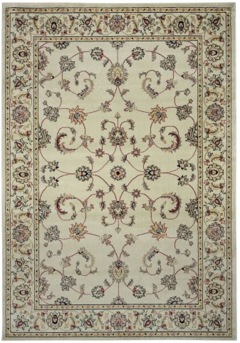 Beige and Red Barcelona Large Rug