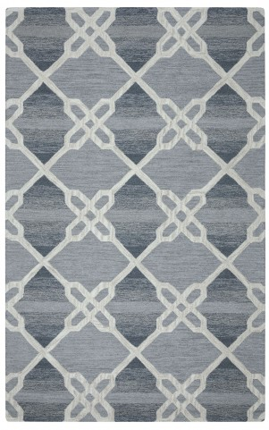 970187L Gray and White Hampton Large Rug