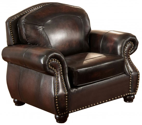 Hyde Brown Leather Armchair