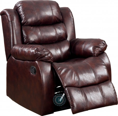 Smithee Burgundy Glider Reclining Chair