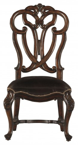 Costa Del Sol Dark Woodtone Messalinas Blessings Side Chair