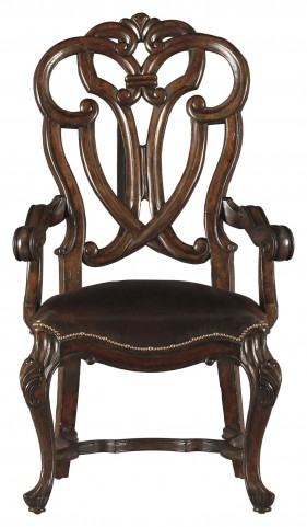 Costa Del Sol Dark Woodtone Messalinas Blessings Arm Chair