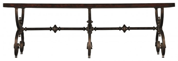 Costa Del Sol Dark Woodtone Conquistador Bench Table