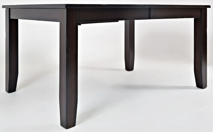 Dark Rustic Prairie Butterfly Leaf Extendable Dining Table