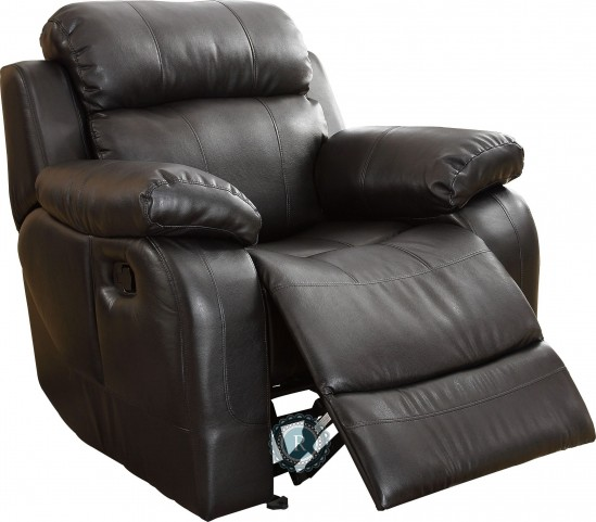 Marille Black Glider Reclining Chair