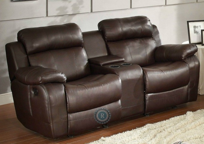 Marille Dark Brown Double Glider Reclining Loveseat