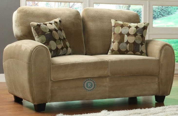 Rubin Brown Loveseat