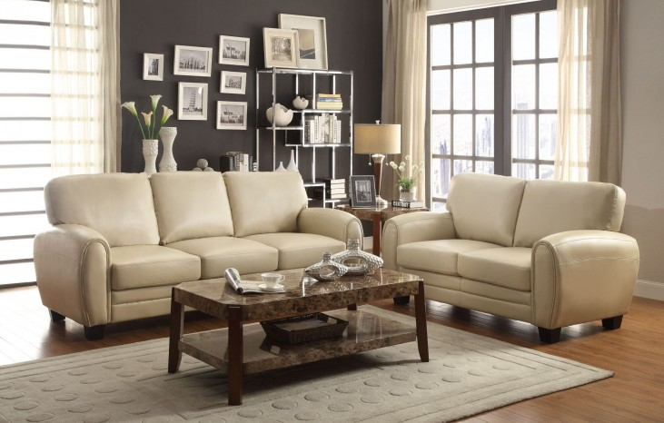 Rubin Taupe Living Room Set