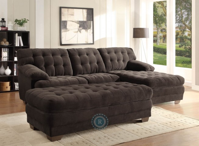 Brooks Brown Sectional