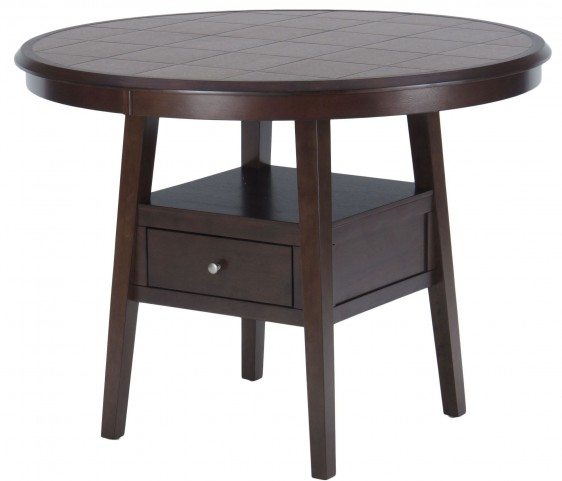 "Caleb Brown 48"" Round Counter Height Dining Table"