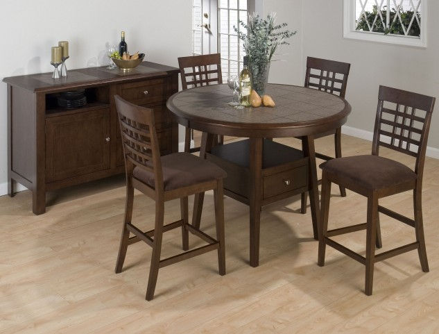 """Caleb Brown 48"""" Round Counter Height Dining Room Set"""