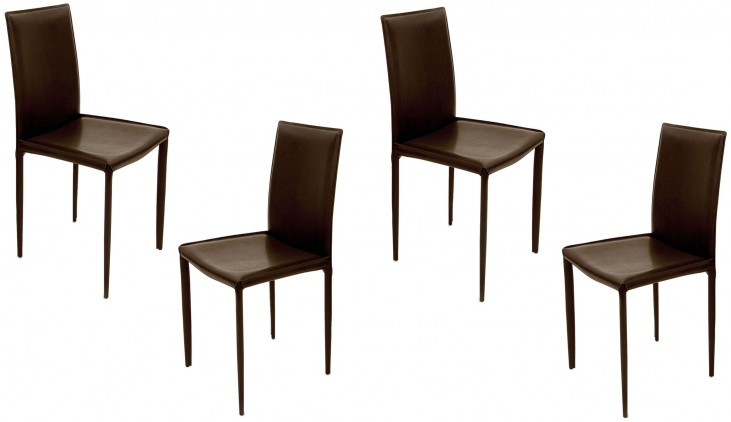 Euro Home Aimee Brown Chair Set of 4