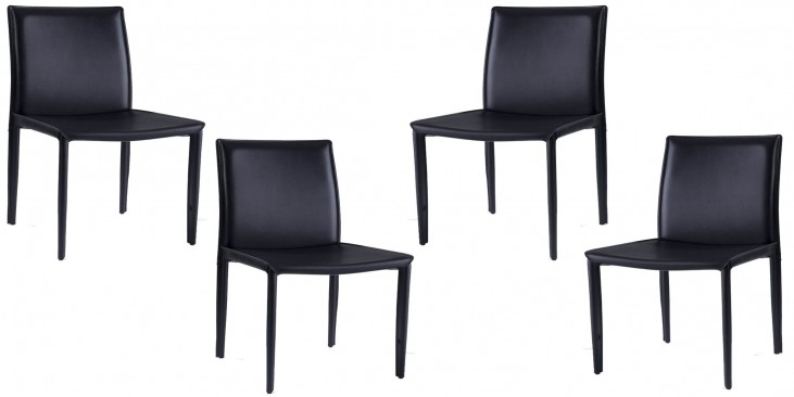 Euro Home Aimee Black Chair Set of 4