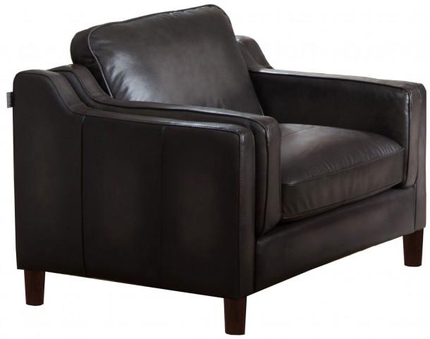 Ballari Weathered Grey Leather Arm Chair